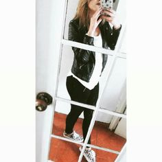 Outfit black and white #vans