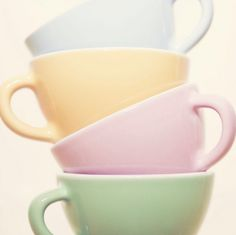 pastels.quenalbertini: Pastel teacups