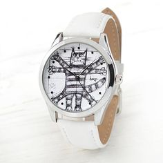 Brother Gift Vitruvian Cat Leather Watch Christmas Gifts