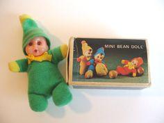Vintage Mini Bean Doll in Faux Matchbox 1970s by VintageChezFulton Hong  Kong 62422e585486
