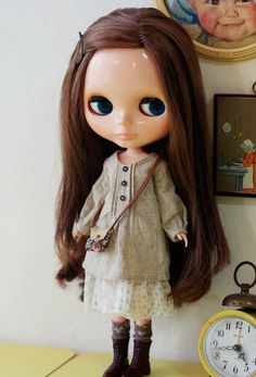 Sugarbabylove  Linen Natural set for Blythe by sukra on Etsy, $42.00