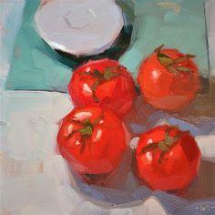 "Daily+Paintworks+-+""Tomato+Club""+-+Original+Fine+Art+for+Sale+-+©+Carol+Marine"