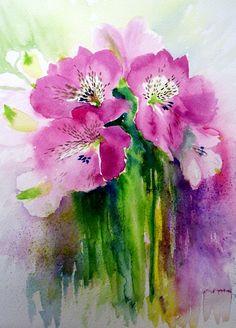 Original Watercolour Painting ' Lillies' £30.00