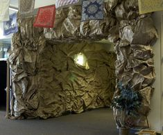 How to Make Rock Walls - if we started saving all of that crinkled packing paper from our orders...