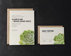 succulent wedding invitations - Google Search