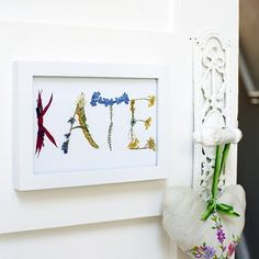 Make a pressed-flower door nameplate. To bad the little girl doesnt like it.