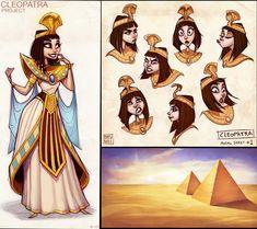 ArtStation - Cleopatra Character Design, Drew Hill