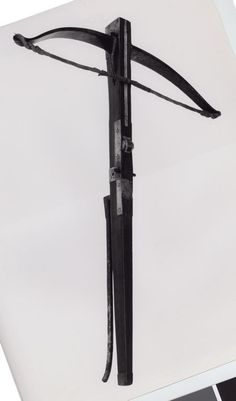 Spanish(?)    Crossbow, c. 1600    Fruitwood(?), iron, horn, brass, and cord  L. 77 cm (30 5/16 in.)  Wt. 5 lb. 9 oz.