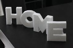 Deko-Buchstaben schnell und preisgünstig aus Styropor hergestellt