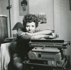 Writer and playwright Lorraine Hansberry poses for a portrait in her apartment at 337 Bleecker Street in April, 1959 in New York City, New York. Get premium, high resolution news photos at Getty Images Civil Rights Figures, Lorraine Hansberry, Black Authors, Today In History, Young Americans, Playwright, Essayist, African American History, Ny Times