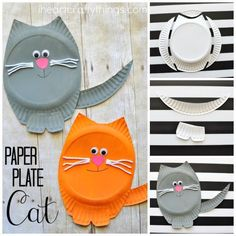 Create the purr-fect cat craft with this fun paper plate project. This is a kid's project that can be done any time of year and requires very few materials. Grab a paper plate and start designing your favorite cat, courtesy of I Heart Crafty Things.
