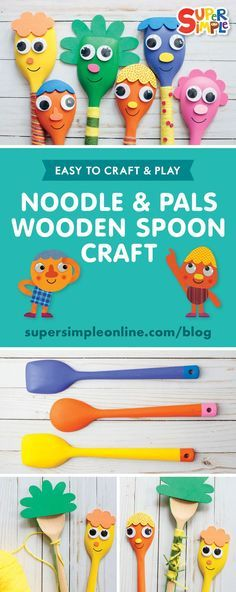 Easy Diy Crafts, Cute Crafts, Diy Crafts For Kids, Craft Ideas, Wooden Spoon Crafts, Wooden Spoons, Non Toy Gifts, Craft Gifts, Kids Art Class
