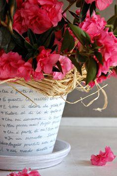 Vasi di terracotta shabby chic fai da te! 20 idee + Tutorial