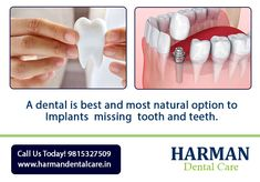 Missing several teeth can influence your daily life. Manjeet Inder Kaur for treatment of Missing teeth. Best Dentist, Dentist In, Missing Teeth, Dental Cosmetics, Dental Problems, Dental Care, Meet, Phone, Life