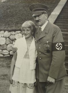 Adolf Hitler and unknown German girl