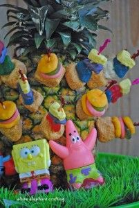 SpongeBob  Krabby Patty Birthday party Food idea