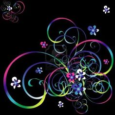 Image detail for -... background with a rainbow curls and spirals Stock Photo - 3971424