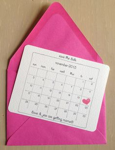 These custom illustrated save the date cards are a great way to announce your special day!