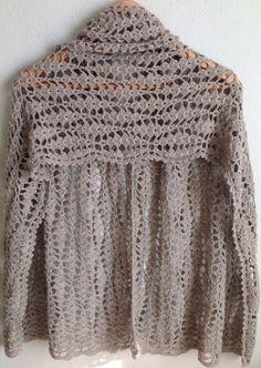 Crochet Beige Shawl/Crochet Beige Scarf/Crochet Shawl by Bisakole, $76.00