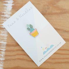 Image of Cactus pin badge