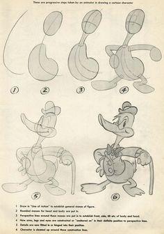 John k stuff: animation school lesson 4 - 2 legged characters-full body Disney Drawings, Cartoon Drawings, Animal Drawings, Art Drawings, Drawing Faces, Old School Cartoons, Old Cartoons, Animated Cartoons, Animation Sketches