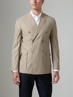 Valentino Cotton Double Breasted Blazer
