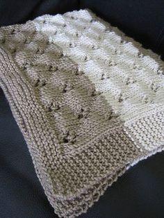 Ravelry: Allegra's Cover pattern by Emma Fassio Baby Knitting Patterns, Knitting Stitches, Stitch Patterns, Knitted Afghans, Knitted Baby Blankets, Knitting Videos, Knitting Projects, Easy Knit Baby Blanket, Ravelry