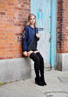 Gigi Zip-Thru' Bomber Jacket Bomber Jacket, Punk, Zip, Jackets, Collection, Style, Fashion, Down Jackets, Swag