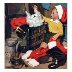 """""""Truth About Santa"""", December 15, 1951 Giclee Print by Richard Sargent at AllPosters.com"""