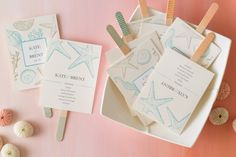 Help your wedding guests stay cool by turning your programs into fans. Just choose a beautiful free template and design from Avery, print it on Avery Postcards and stick back-to-back on a ice-cream stick.
