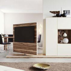 Wohnwand mit TV-Drehelement CONCEPT 1510 von Weissengruber