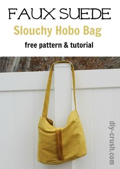 Make a Slouchy Hobo Bag in Cuddle Suede -http://www.shannonfabrics.com/suede - Free pattern and sewing tutorial by DIY Crush Whimsy Couture Sewing Patterns. Download it on My Cuddle Corner, our blog  http://shannonfabrics.com/blog/2016/03/24/7684/  #CuddleSuede #HoboBag @DIYCrush @whimsycouture