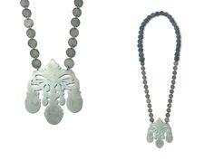 'Crown Jewels', Necklace, 2013, zinc, steel, cotton. Made by Malou Paul. www.maloupaul.nl