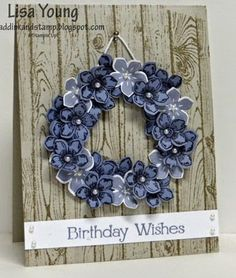 Add Ink and Stamp: Petite Petals Wreath