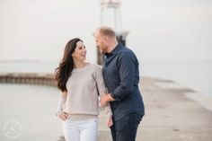 Engagement Session, Lake Michigan