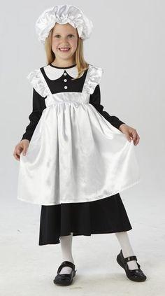 GIRLS WW1 Nurse Costume Childrens Fancy Dress Age 3-12 Florence Book Week