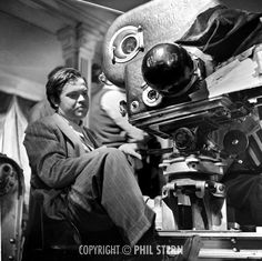 Phil Stern's Archives » Orson Welles on the set of The Magnificent Ambersons, 1942