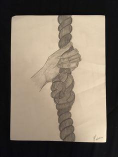 """Knot In My Way"" pencil sketch"