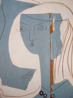 Pablo Picasso. Cut and torn paper and pencil and crayon.