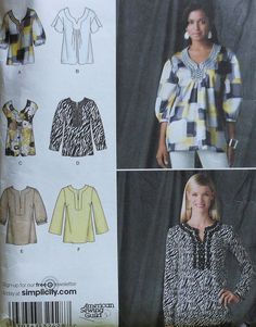 Tunic Style Top Sewing Pattern