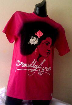 Pink T shirt,  Afro T shirt, Ladies Tee Shirt,  African T shirt, Girl's top, Urban fashion, street art by FreedomCountryGH on Etsy