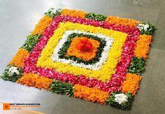 15 Beautiful & Colorful Flower Rangoli Designs Ideas For Pongal 2020 Simple Rangoli Designs Images, Rangoli Designs Flower, Colorful Rangoli Designs, Rangoli Ideas, Rangoli Designs Diwali, Diwali Rangoli, Flower Rangoli, Beautiful Rangoli Designs, Flower Designs