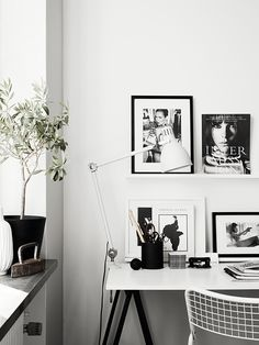 monochrome interior styling