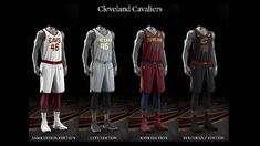 Cleveland Cavaliers uniform set, 2017-18