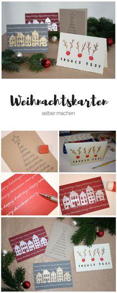 DIY Weihnachtskarten, selbstgemachte Karten, DIY Geschenk, Lunaria