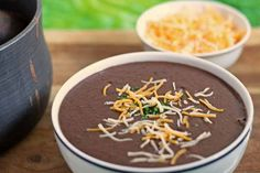 3 Ingredient Black Bean Soup - delicious and super easy! #soup | Honey and Birch