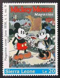 10029 - Framed Postage Stamp Art - Mickey Mouse Magazine - Disney - Movies and Entertainment