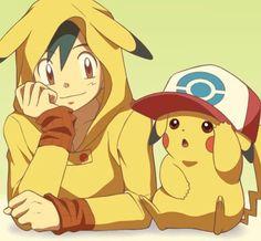Cosplay Ash and Pikachu