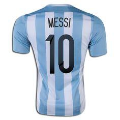 Lionel Messi 10 2015 Copa America Argentina Home Soccer Jersey