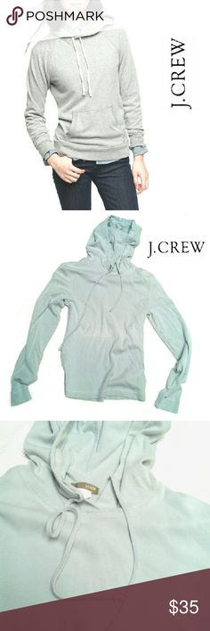 J.CREW 100% COTTON LIGHT GRAY HOODIE J.CREW 100% COTTON LIGHT GRAY HOODIE Pre-Loved  / Image for Similarity / EUC SZ M RN# 77388 Pls See All Pics. Ask ? If Needed J. Crew Sweaters